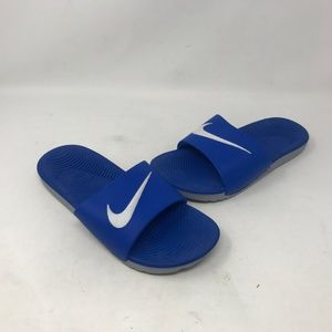 Nike Boy's Youth Blu/Gry Slides 819352-400 (a25b5)